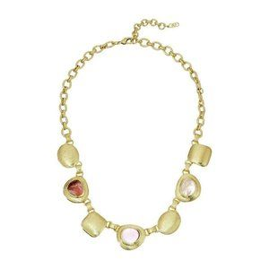 Cole Haan - Chunky Drama Necklace, Gold/Rose Quart